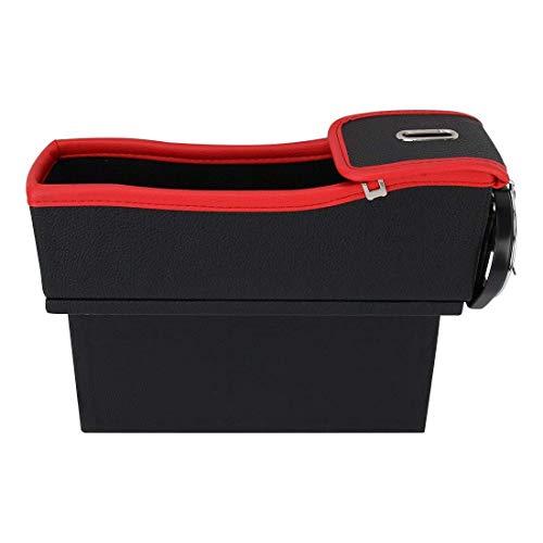 Auto opslag Car Seat Crevice Storage Box Have Interval Cup Drinkhouder Organizer Auto Gap Pocket Stuw- Bag 2 stuks, for de meeste auto's (Kleur: Color1) Het is veiliger om de telefoon met de auto te b