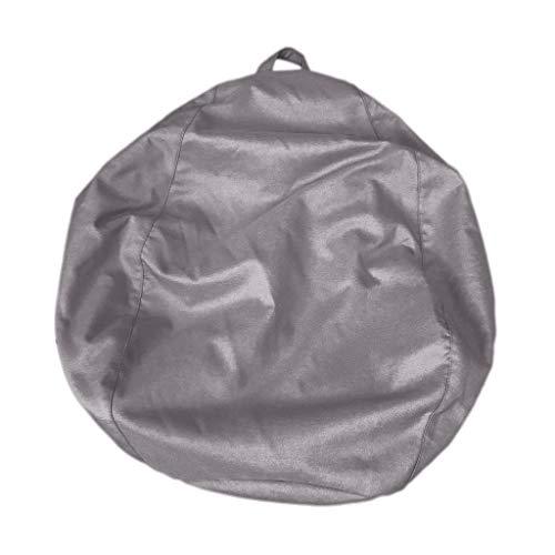 Homyl Housse de Pouf Chaise de Sac de Haricot Couverture de Pouf 90 * 110cm - Gris