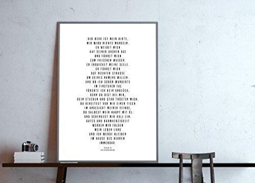 Poster: Psalm 23 - Der Herr ist mein Hirte - ein Psalm Davids