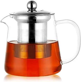 PluieSoleil Dzbanek szklany zaparzacz do herbaty 350 ml wyjmowane sitko ze stali szlachetnej (450 ml)