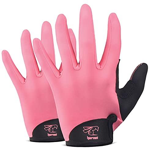 Hornet Watersports Rosafarbene Ruderhandschuhe mit rutschfestem Griff, ideal zum Paddeln, Segeln, Angeln, Kajakfahren, Bootfahren und mehr (XS (passend für 14 cm - 15,2 cm)