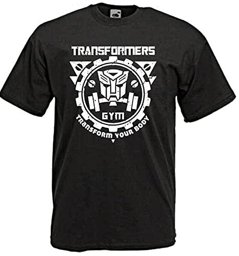 T-Shirt Shirt Fitness Transformers Your Body Transforms Your Body Gym Sport Black 3XL