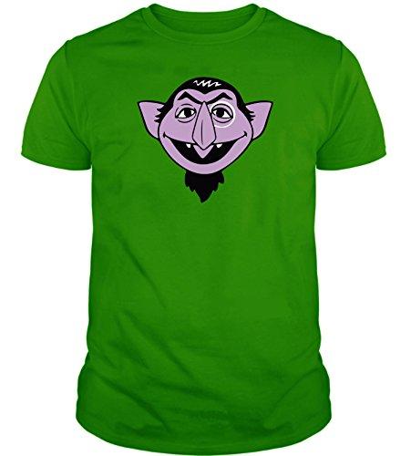 The Fan Tee Camiseta de Hombre Divertidas Dracula Barrio Sesamo Divertida Funny Verde Retro