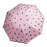 JIAOU Anti-UV-Regenschirm Robuste Kompakt und tragbare Reise-Regenschirm-Frauen-Mädchen Intim...