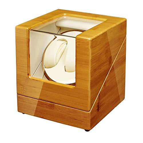 Sepano Bamboo Automatic Watch Winder Collector - 2 hölzerne Uhrenbeweger mit Mabuchi-Motor und doppelter Stromversorgung, 100% handgefertigt