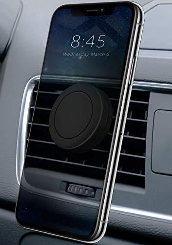 MoEx® Magnetische 360° Auto Handyhalterung für alle Smartphones | Kompakt und unauffällig - Stabile KFZ Lüftungshalterung, Schwarz