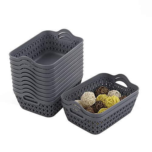 Cestas Almacenaje Plastico cestas almacenaje  Marca Yarebest