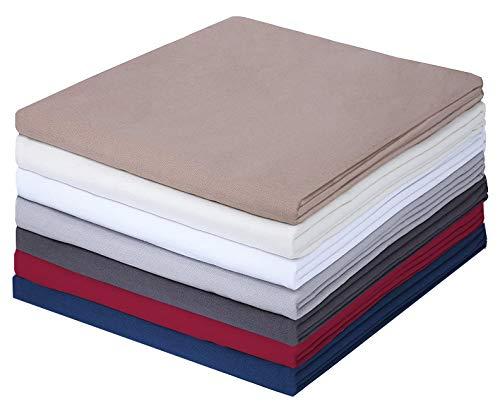 GREEN MARK Textilien Klassische Bettlaken | Betttuch | Laken | Leintuch | Haustuch 100% Baumwolle ohne Gummizug vielen Größen und Farben Größe: 150x250 cm, anthrazit grau