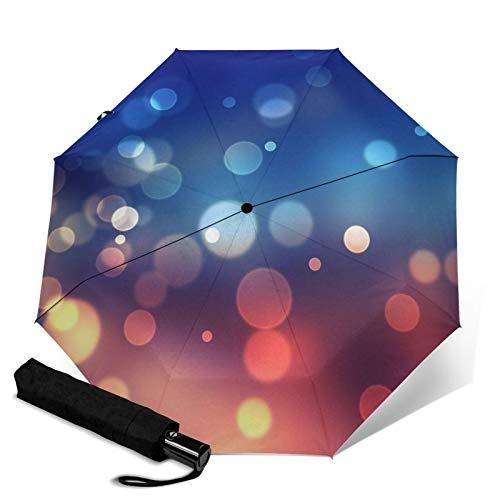 Bubble,Waterproof Automatic Folding Umbrella Manual Tri-Fold Umbrella Portable Compact Umbrella for Daily