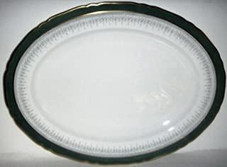 Royal Worcester Regency Green On Grey Oval Platter 16