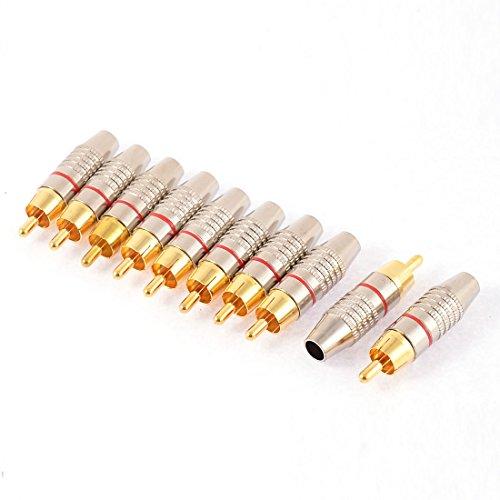 10Stk. RCA Cinch Stecker Steckverbinder Löt Typ Audio Video Koaxial AV Adapter de