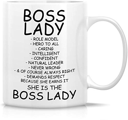 Funny Mug Boss Lady Role Model Caring Description 11 Oz Ceramic Coffee Mugs Funny Sarcasm Motivational Inspirational Birthday Gifts For