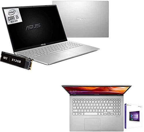 Notebook Asus I5 Display Led Full HD 15.6' Slim Silver Cpu Intel quad core i5-1035G1 10th fino a 3,6Ghz,Ram 8Gb DDR4,SSD M2 512GB,2gb Nvidea FHD 620,Hdmi,Wifi,Bluetooth,Windows 10 Home