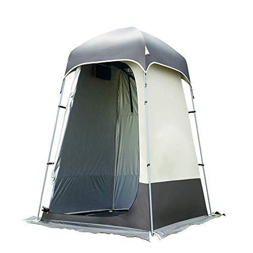HIGHKAS Outdoor Waterproof With Private Changing Tent,Toilet Tent,Shower Utility Tent Camping Changing Room Storage Tent,Field Mobile Toilet