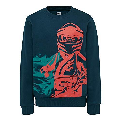 LEGO Jungen Ninjago cm Sweatshirt, Grün (Dark Khaki 889), 5 Jahre