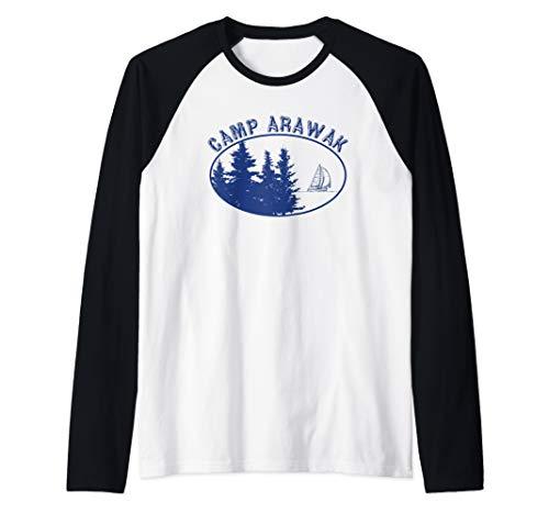Camp Arawak Shirt Retro Summer Camp Raglan Baseball Tee
