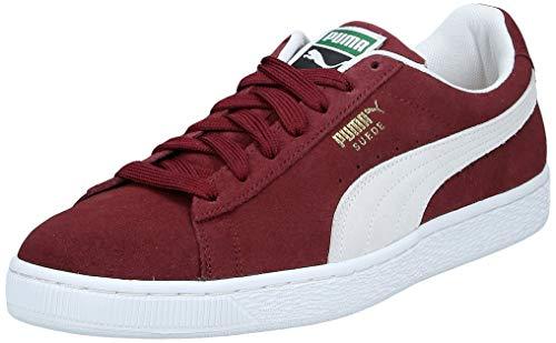 Puma Suede Classic, Sneaker Man (Basketball), Rosso (Cabernet/White), 8 EU