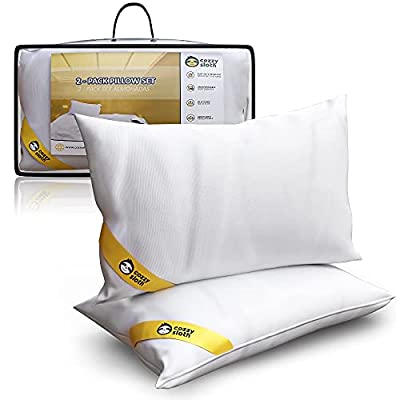 COMODIDAD - Nuestras almohadas 40x70 de firmeza media-baja son ideales para cualquier tipo de colchón y extremadamente cómodas gracias a su relleno de fibra siliconada esponjosa. TACTO SEDA - El tacto seda de su funda hace que nuestras almohadas sean...