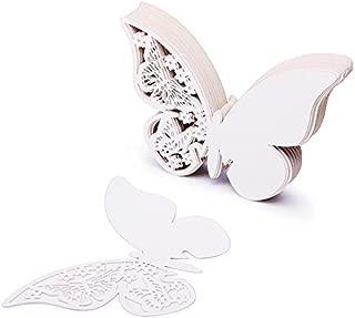 ZZM 50 Tarjetas con Forma de Mariposa para Escribir el