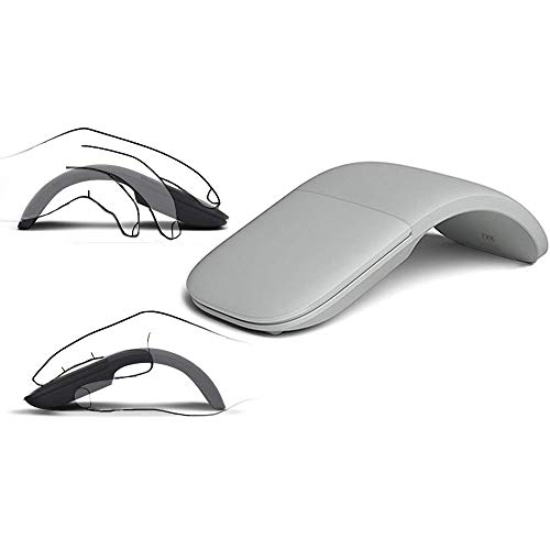 Slim and Portable 2.4Ghz Wireless Foldable Folding Arc Optical Mouse