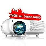 TOPTRO Proiettore,7200 Lumens Aggiornato Videoproiettore Full HD 1920x1080P Nativa,Supporta Video 4K,Schermo da 350 'con Correzione Trapezoidale 4D,Ideale LCD Home Theater Proiettore