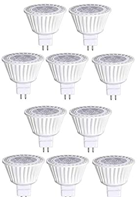 Bioluz LED 10 Pack MR16 Bulbs or Sockets GU5.3 Base
