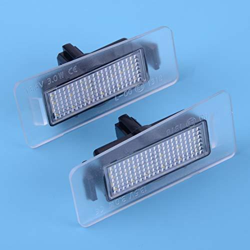 Pair of 18Leds White Led Number License Plate Light 13.5V 3W Lamps Fit for Hyundai Elantra 2011-2014/ I30 Kombi 2012-2014