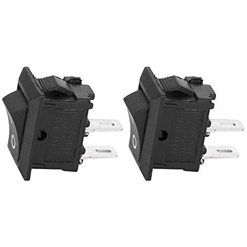 Chipoee 20 Piezas Interruptor basculante de Encendido/Apagado de 2 Pines KCD11 de 2 Posiciones Accesorios para electrodomésticos Negro