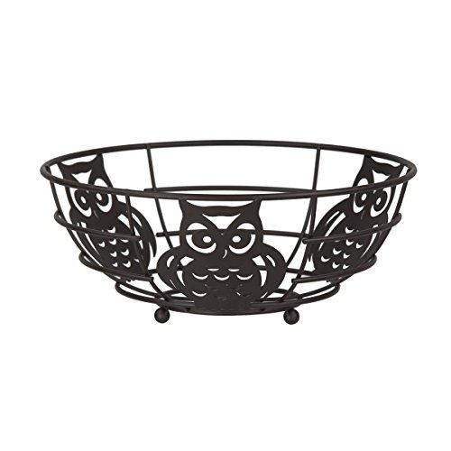Bronze Owl Fruit Bowl