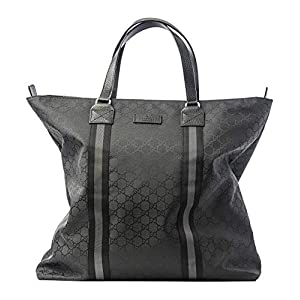 Fashion Shopping Gucci Italy Signature Tote Canvas Bag Nylon Handbag Lightweight Authentic New