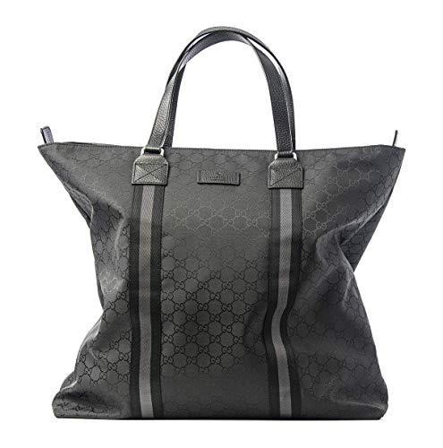 Fashion Shopping Gucci Italy Signature Tote Canvas Bag Nylon Handbag Lightweight Authentic New