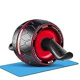 ab roller,rotella addominali, attrezzi palestra casa addominali, con ginocchiere, ab roller ruota per criceti, attrezzature per il fitness per la casa di ginnastica unisex-adult,ruota addominale