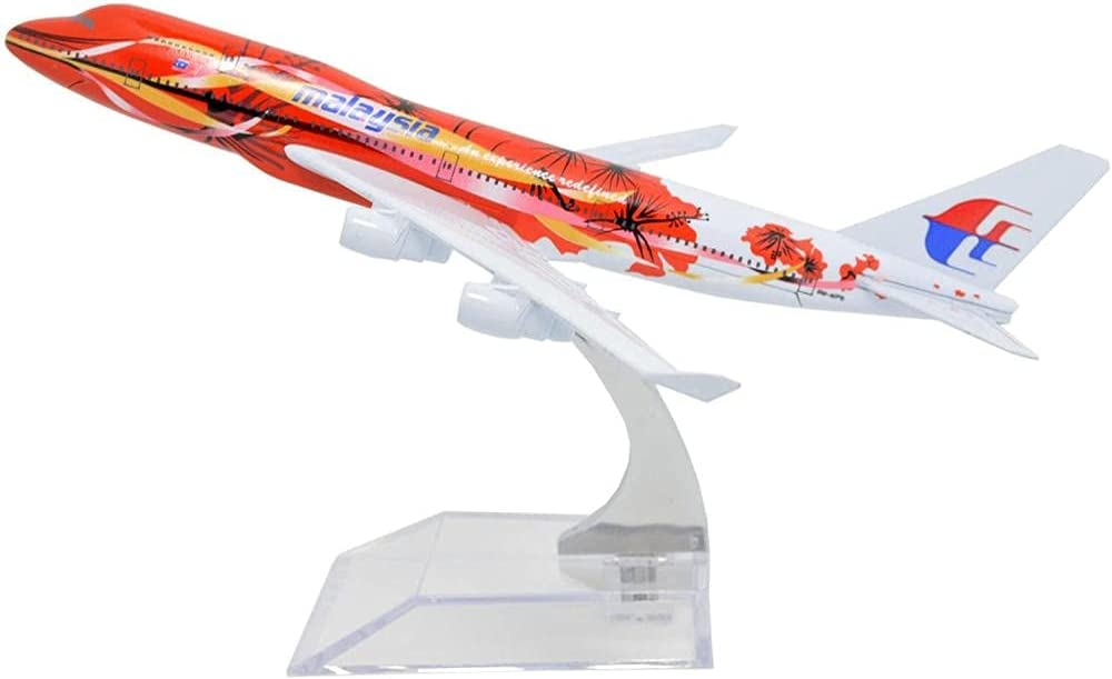 LAN Yu- 1:400 Max 43% OFF 16cm Malaysia Metal Airlines Peony half Airpla B747-400