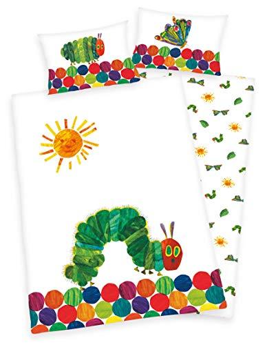 Die kleine Raupe Nimmersatt Baby Bio Parure de lit 40 x 60 cm + 100 x 135 cm 100 % coton certifié GOTS