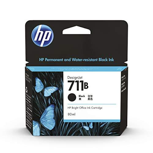 HP 711 CZ133A - Cartucho de Tinta Original DesignJet (80ml, para impresoras Plotter de Gran Formato HP DesignJet T120, T125, T130, T520, T525, T530 y Cabezal de Impresión HP 711) Negro