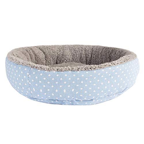 Zachte Kat Bed House Ronde Opvouwbare Pluche Hond Slapende Mat Kussen Nest Warm Wasbare Kennel Puppy Kitten Verbergen Burger Brood Winter, 45CM, B