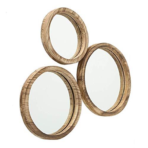 Home Collection Decoraciones Accesorios Interior Juego de 3 Espejos Circulares de Pared 25-35 cm