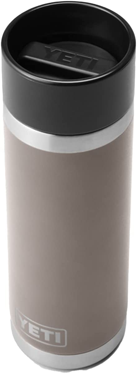 YETI Rambler 18 oz Bottle, Stainless Steel, Vacuum Insulated, with Hot Shot Cap, Sharptail Taupe
