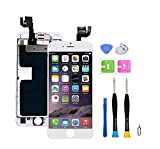 Screen Replacement Compatible with iPhone 6s 4.7 inch Full Assembly - LCD 3D Touch Display Digitizer with Sensors and Front Camera, Fit Compatible with iPhone 6s 4.7 inch-White