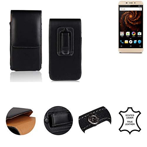 K-S-Trade® Holster Gürtel Tasche Für Allview X4 Soul Mini Handy Hülle Leder Schwarz, 1x