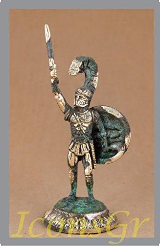 Griego antiguo Bronce Museo Estatua réplica de 300leónidas rey de Esparta Coleccionable (196)
