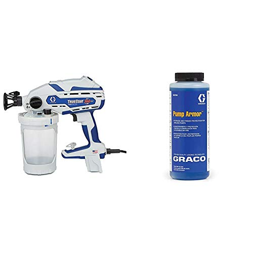 Graco 17D889 TrueCoat 360 VSP Handheld Paint Sprayer & 243104 Pump Armor, 1-Quart