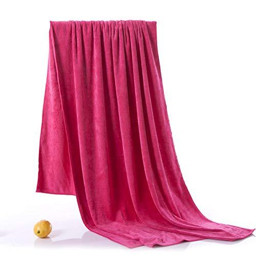 N/W Paño de Franela para la Cara, Aumento de Toallas de baño, Toallas de Cama absorbentes, Toallas-Rose Red Super Thick_190x90cm