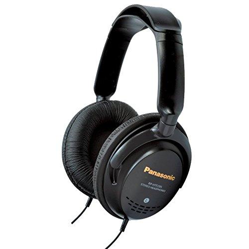 Panasonic RP-HTF295E-K Auriculares de Diadema Cerrados, Cable Largo, Sonido Hi-Fi, Aislamiento de Ruido, Diseño Ergonómico, Unidad de Control 40 mm, Color Negro