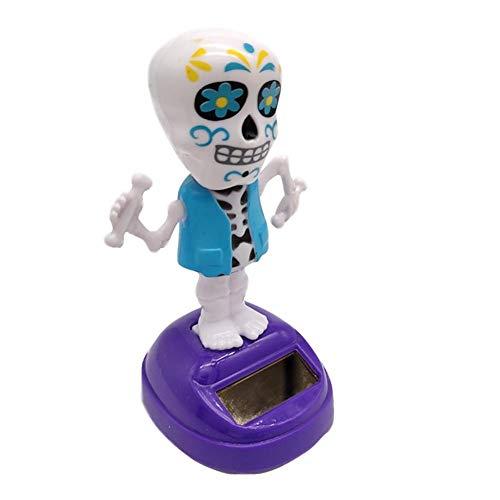 XUWLM Armaturenbrett Sonnen Tanzen Geist, Halloween-Skelett Bobblehead Puppe Desktop-Dekoration-Geschenk