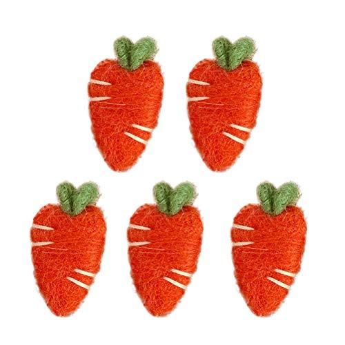 VALICLUD 5 uds Broche en Forma de Zanahoria alfileres para el Pecho Ropa de Fieltro niños niñas Ramillete Ropa decoración Naranja