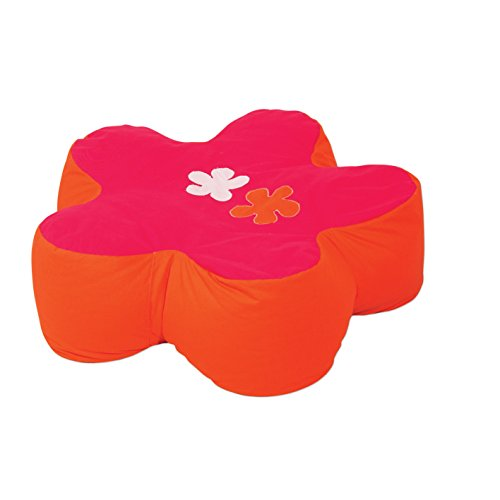 Hoppekids Flower Power Sitzsack blume geformt, 100{06985c777029e5bbcbeb7704d06efc3c6d798940cf999450fc6b9c19f735fb91} Baumwolle ökotex Zertifiziert, Stoff, rosa, 75 x 75 x 23 cm