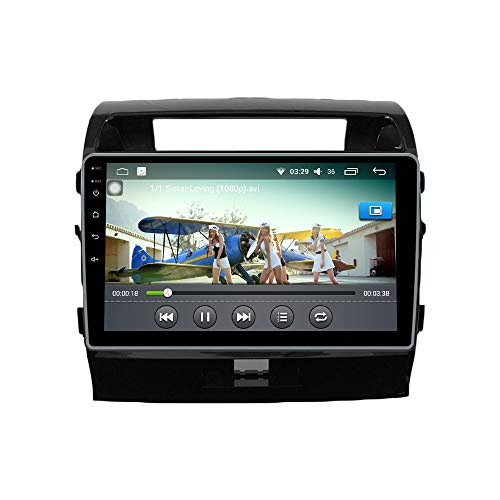 Android 10 4G Ram 64G ROM PX6 Cortex A72 GPS Navegación Radio Control del Volante IPS DSP WiFi Bluetooth porToyota Land Cruiser 2007-2015