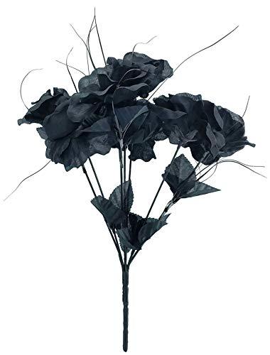 MM TJ Products Artificial Black Roses Bouquet (1)