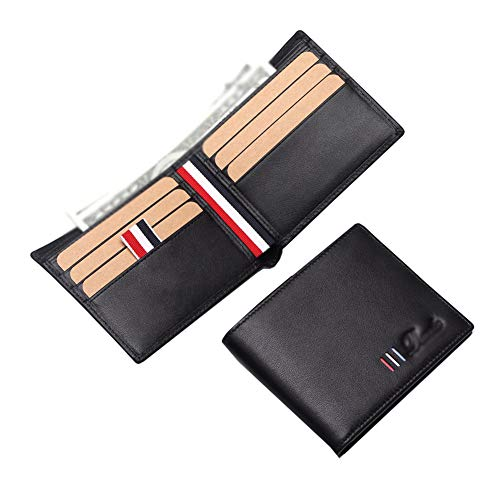 Slanke portemonnee voor mannen met RFID-lederen portemonnee voor mannen geldclip portemonnee muntzak